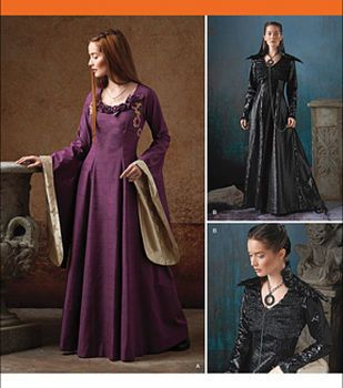 Simplicity Patterns Us1137H5-Simplicity Misses' Medieval Fantasy Costumes-6-8-10-12-14
