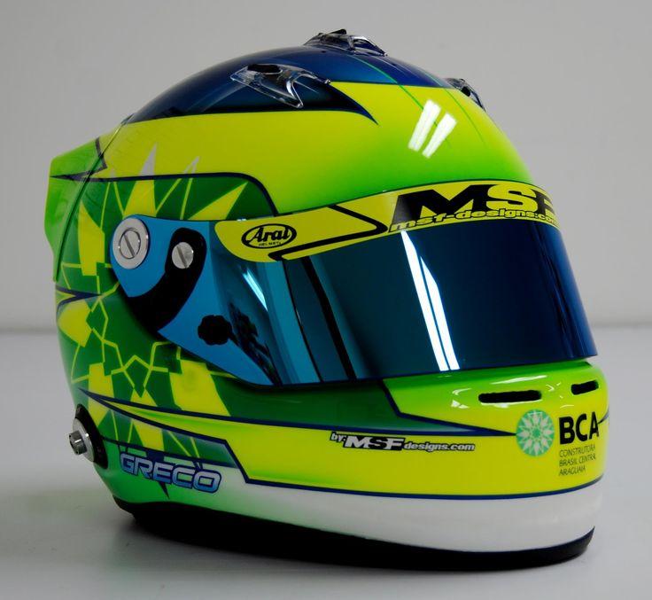 """Racing Helmets Garage: Arai SK-6 """"Greco"""" 2012 by MSF-Designs"""