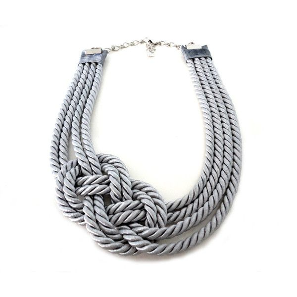 Grey Nautical Sailor's Knot Infinity Rope Necklace... I'd love to figure out how to make this. could be an adorable chunky necklace with a strapless maxi in the summer