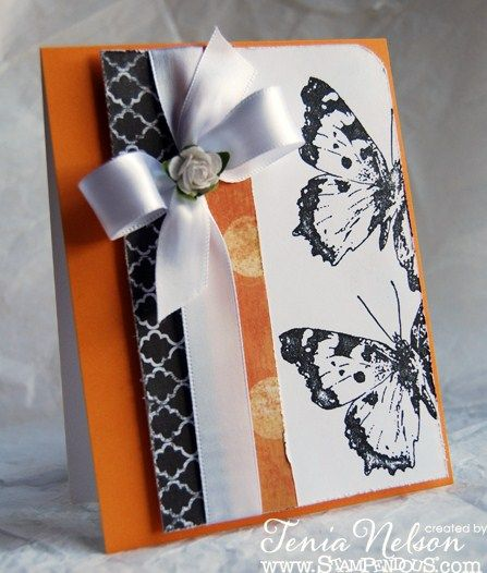 Butterflies Card by Tenia Sanders-Nelson - Cards and Paper Crafts at Splitcoaststampers