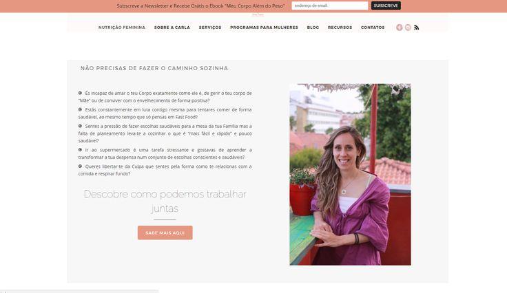 A Carla Fernandes chegou à Bless em 2015 com a vontade de criar algo que a diferenciasse no seu mercado de atuação. Tinha um site com que não se identificava e queria perceber, acima de tudo, o que era a sua diferença. A Bless ajudou-a no processo de naming e na definição do seu posicionamento como especialista em nutrição feminina. Website Copy, Naming, Identidade Visual ( logo a cargo de Sara Machado) e fotografia.