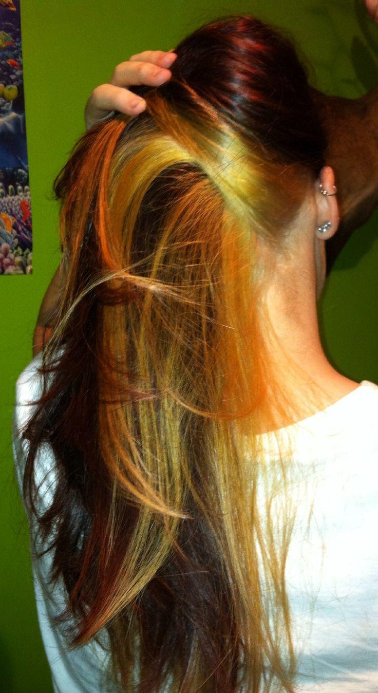 Blonde Under Auburn Hair Hair Amp Make Up Pinterest