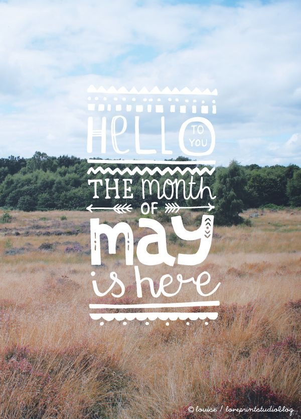 love print studio blog: Hello May...