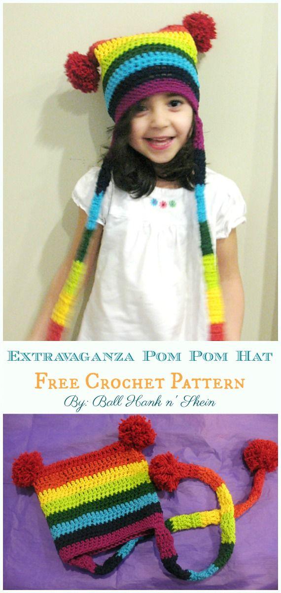 Sack Hat Free Crochet Patterns | Hats, Caps, Ear warmers ...Crochet ...