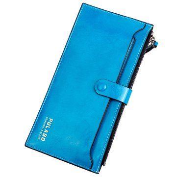 Women Ultrathin Detachable PU Card Bag Elegant Wallet Purse Functional Phone Bag - US$9.99