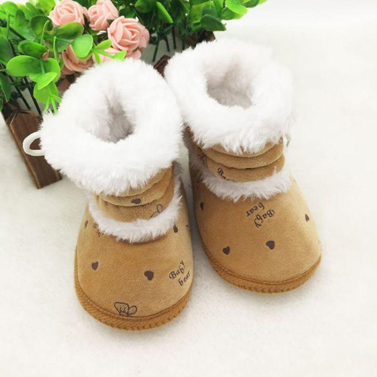 Ребенка 0 - 18 месяцев Prewalker девочки снегоступы зима младенческой твердые кружева-up первый уокер #women, #men, #hats, #watches, #belts, #fashion, #style