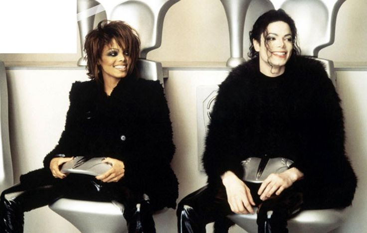 Janet and Michael Jackson on the set of Scream (1995) from Michael's HIStory album.
