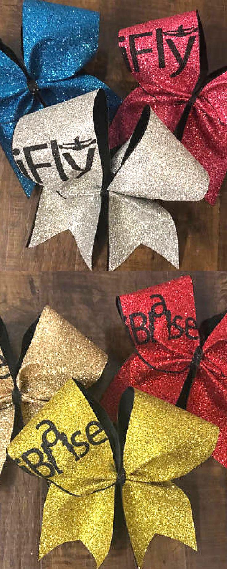 I base cheer bow - stunt base - base cheer bow - cheer bow - stunt bow - stunting - custom cheer bow - I FLY cheer bow, cheerleading hair accessories, glitter bows. Cheer coach. Stunt goals. #cheerleading #ad