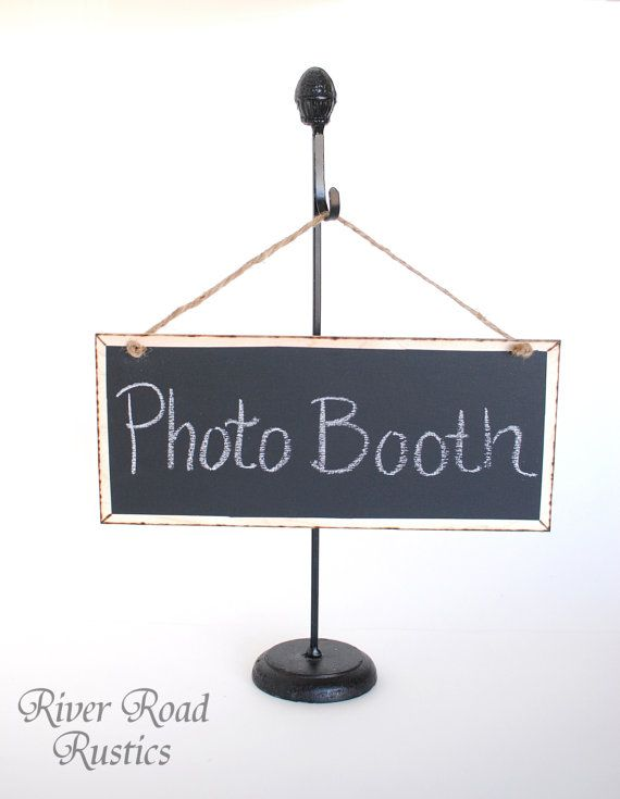 Rustic Hanging Chalk Board Wedding Sign on Twine.