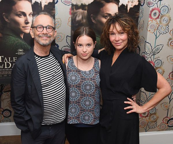 "Jennifer Grey Photos Photos - Actor Joel Grey, Stella Gregg, and her mother, actress Jennifer Grey attend the New York premiere of ""A Tale Of Love & Darkness"" at Crosby Street Hotel on August 15, 2016 in New York City. - 'A Tale of Love & Darkness' New York Premiere - Arrivals"