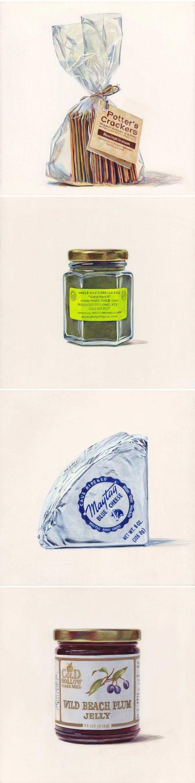 """paintings by joël penkman - """"the taste of america"""" series"""