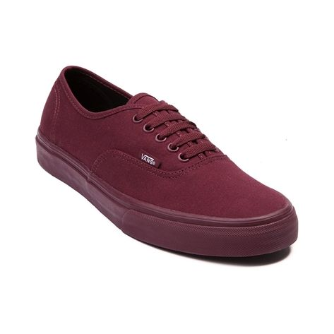 burgundy vans mens star