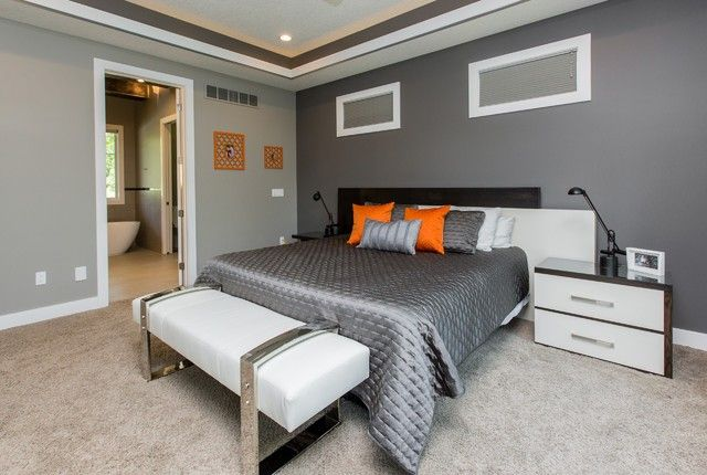 94 Awesome Two Tone Bedroom Design Ideas 2019 Gray Bedroom Walls Bedroom Carpet Colors Modern Bedroom Colors