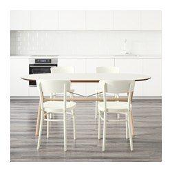 IKEA - SLÄHULT/DALSHULT / IDOLF, Bord og 4 stole, Massivt træ er et holdbart naturmateriale, der kan holde til at blive brugt – hver dag.