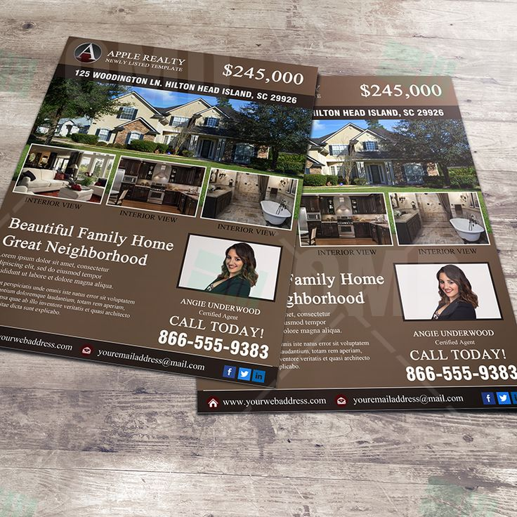Real Estate Agent Branding Marketing Design, Display your next property with a professional design. #realestatemarketing