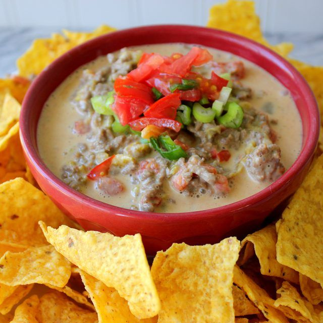How to Make Rotel Dip With Meat