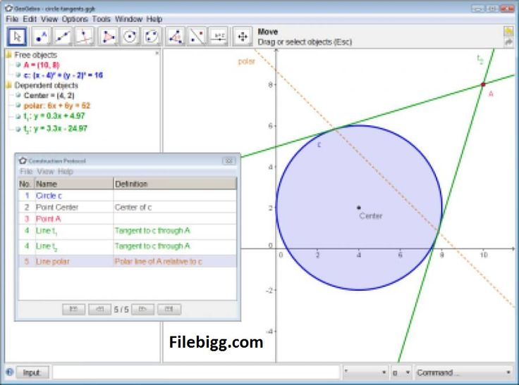 Free Download Software GeoGebra 5.0.151.0 - filebigg.com