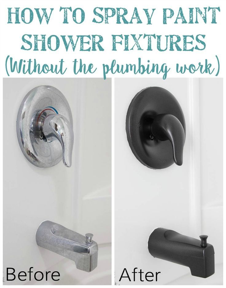 How to Spray Paint Shower Fixtures (without the plumbing work) | Bless'er House - Way cheaper and less hassle than changing out fixtures and proven to last!