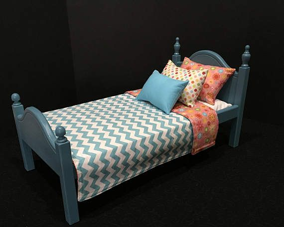 American Girl Doll: Furniture Blue doll bed