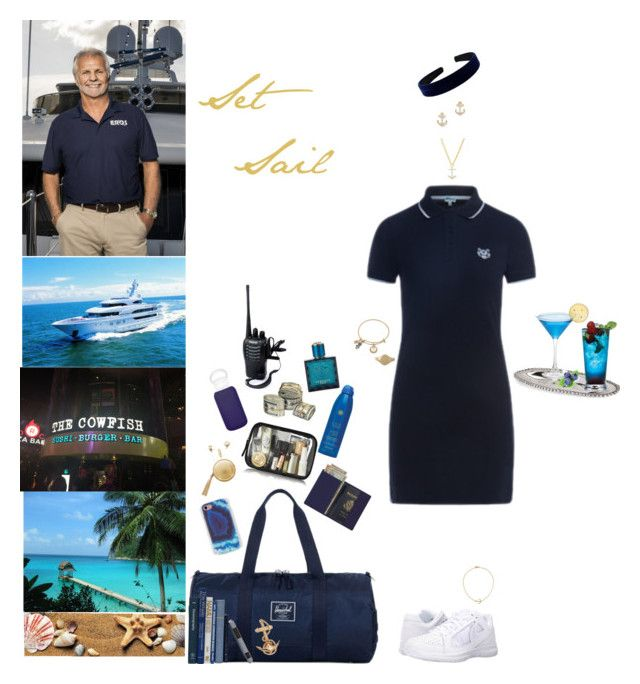 """""""Below Deck"""" by blackmagicmomma ❤ liked on Polyvore featuring Kenzo, NIKE, Herschel Supply Co., Ankit, The Macbeth Collection, Royce Leather, Soleil Toujours, bkr, Lenox and Jennifer Zeuner"""