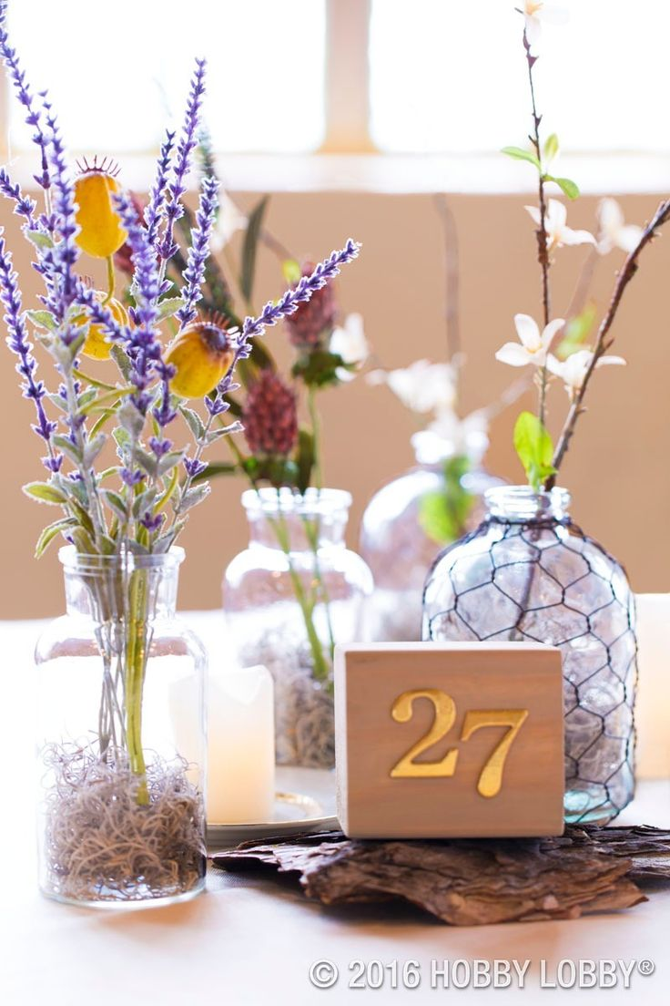 Attractive From Hobby Lobby · DIY Rustic Wildflower Centerpieces To Inspire Your  Wedding Reception Decor!