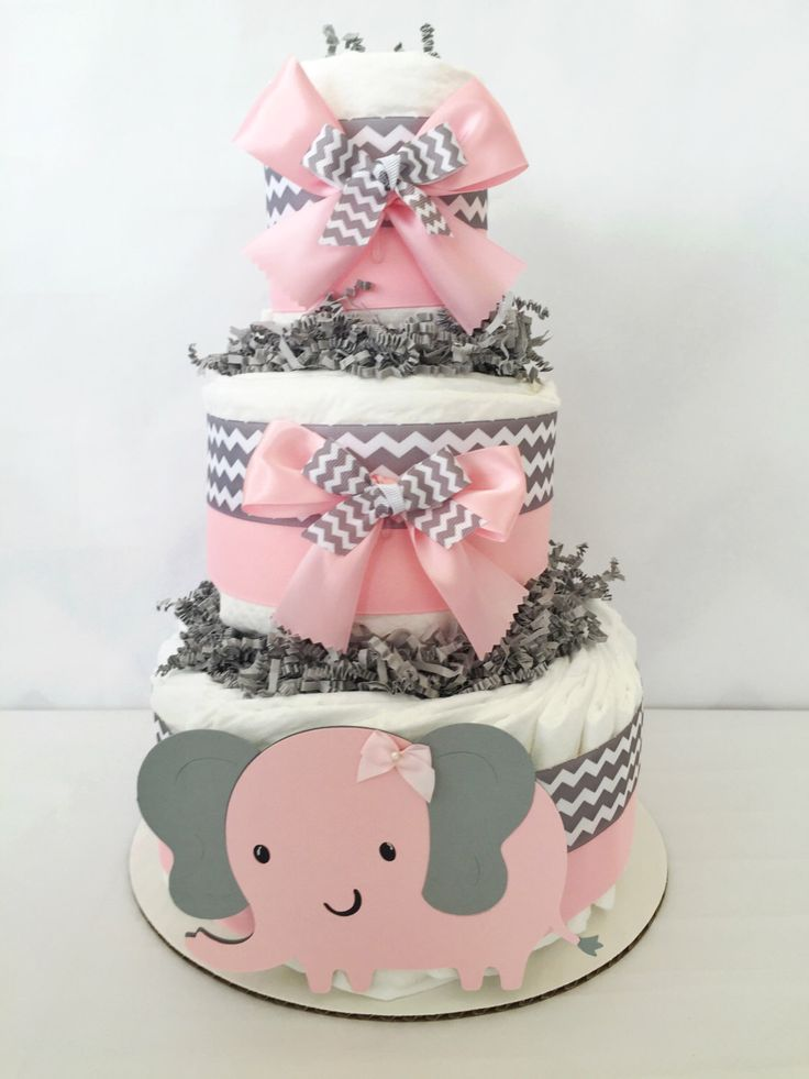 elephant theme baby shower centerpiece pink and gray chevron baby
