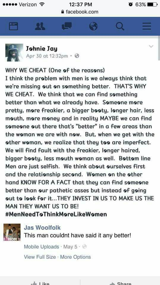 men who cheat online