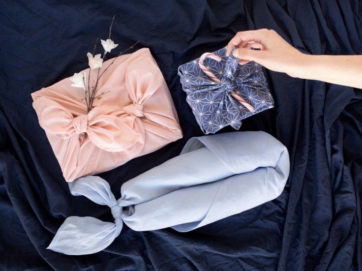 DIY-Anleitung: Geschenk mit japanischer Furoshiki-Technik verpacken via DaWanda.com