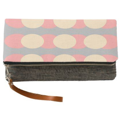 Retro Pattern Grey Coral Cream Clutch Bag - women woman style stylish unique cool special cyo gift idea present