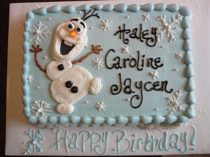 Frozen Cake Th Birthday