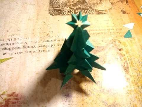 How to make an easy and pretty Origami Christmas Tree - YouTube