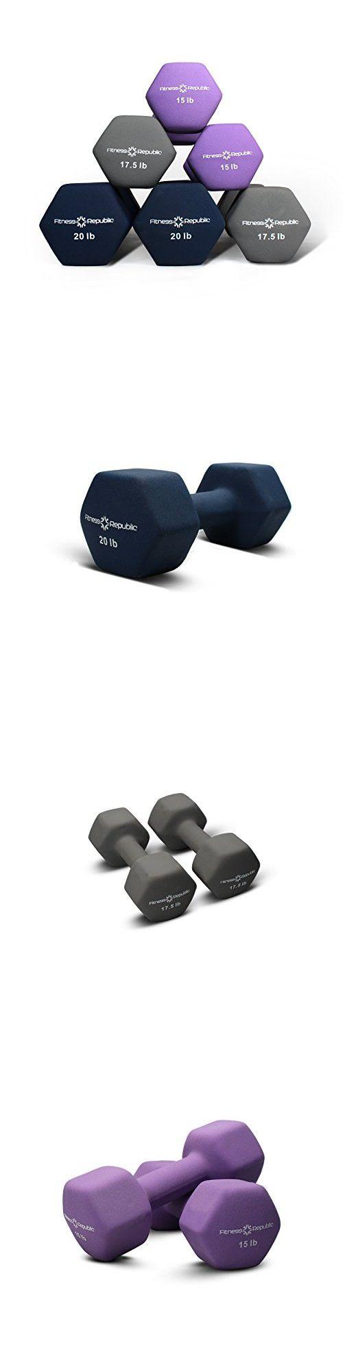 Fitness Republic Neoprene Dumbbell Pairs (Heavy) 15lb,17.5lb & 20lbs