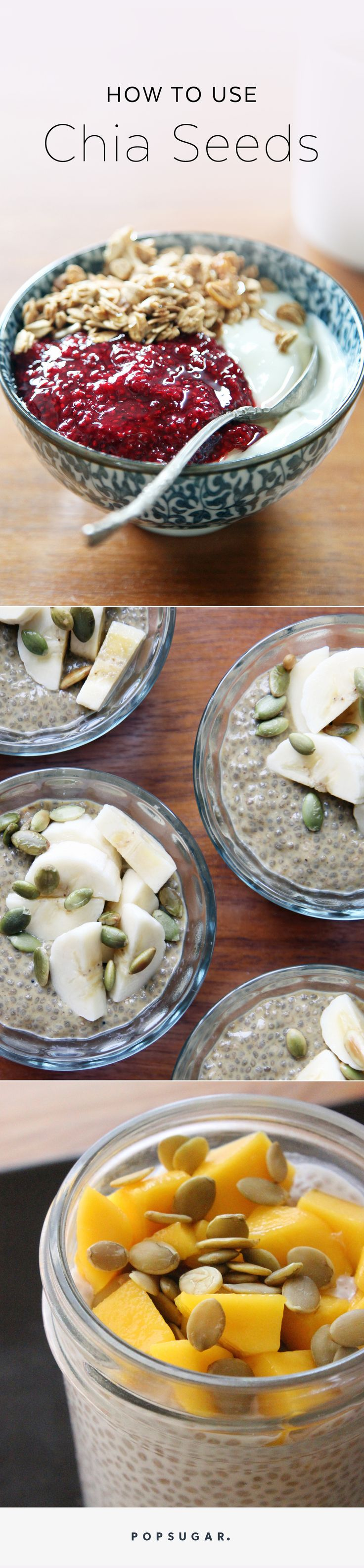 So you know chia seeds are healthy and good for you, but do you know how to use them? Learn all the ways to eat chia seeds; these simple ideas will incorporate them into your diet, from puddings to egg replacers, jams and weight-loss boosting overnight oats, to healthy breakfast recipes.