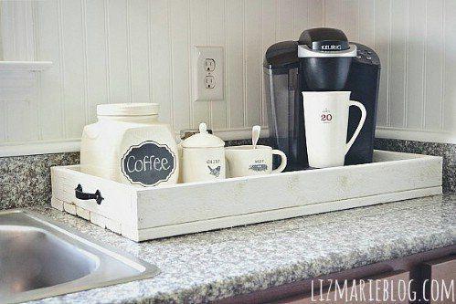 Si sois amantes del buen café os mostramos cómo crear un rincón en la cocina para disfrutarlo.