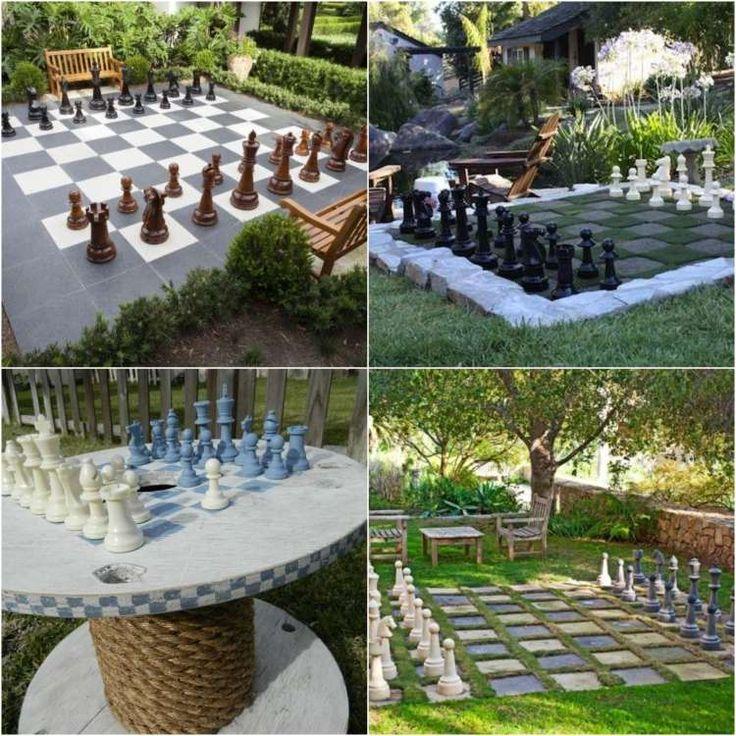 schach spiel im garten selber machen garteninspirationen pinterest basteln garten und. Black Bedroom Furniture Sets. Home Design Ideas