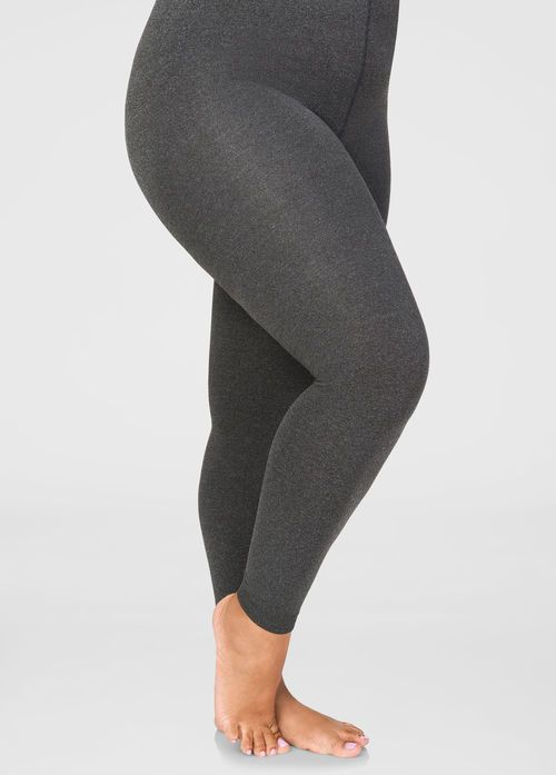Womens Plus Size Fleece Footless Tights
