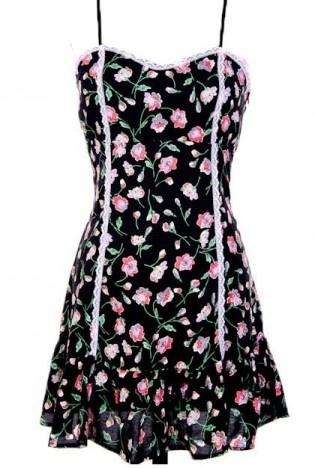 Black Floral Dress - Floral Dress   UsTrendy