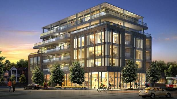 Mid rise apartment development toronto canada large for Multi storey apartment modern design