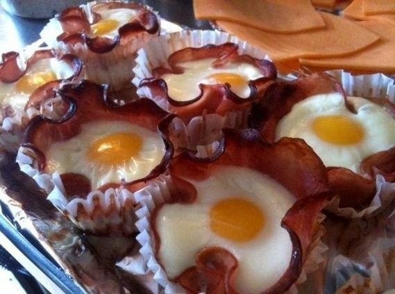 Bacon And Egg Cupcakes - heaven