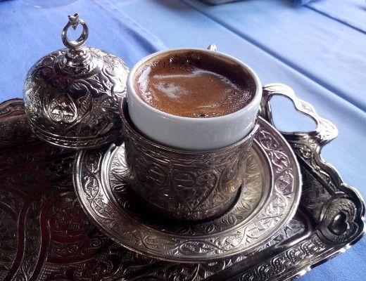 Cardamom coffee in Istanbul, Turkey