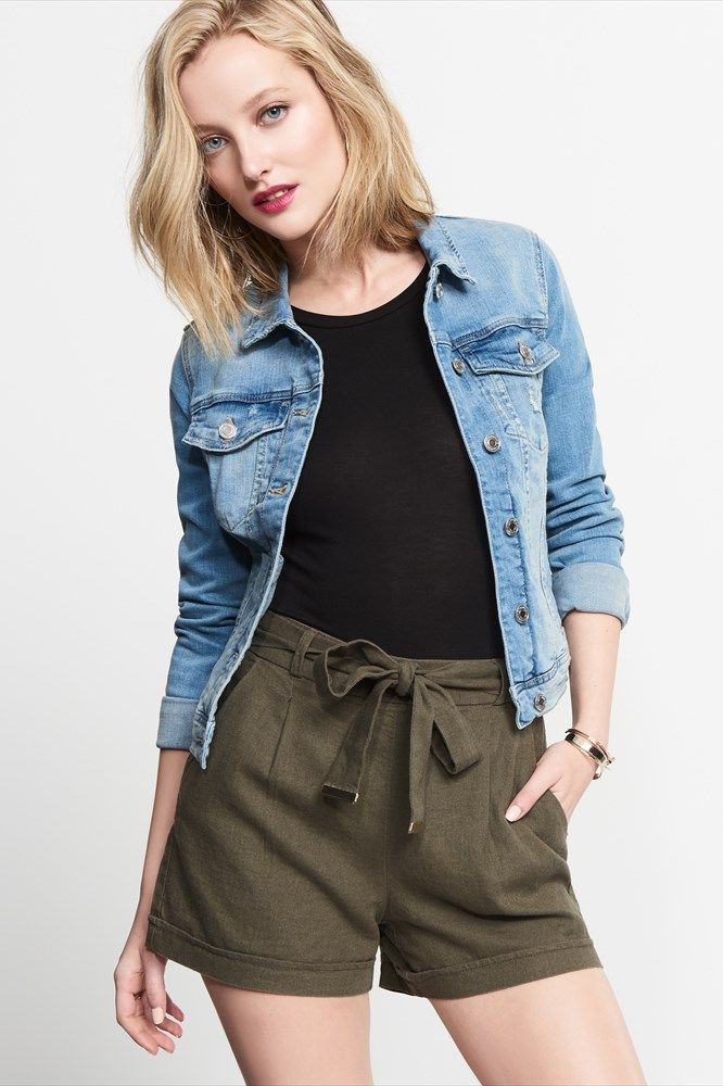 Linen Shorts With Tie