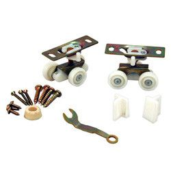 Johnson Pocket Door Hardware Set For 1500/2710 Series, Up To 125Lb Door (Carded)