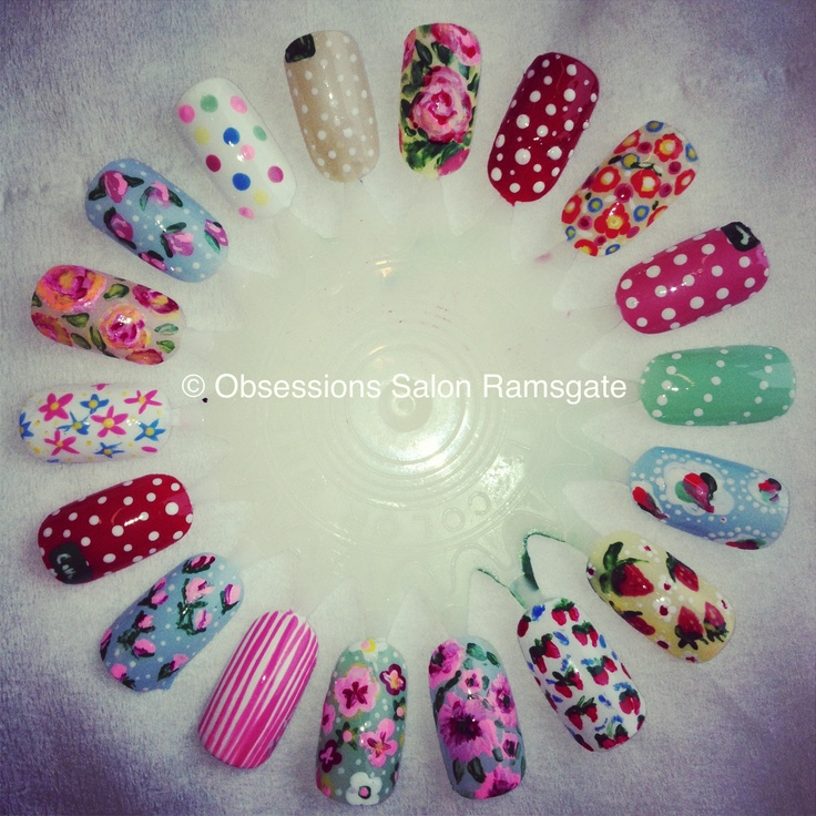 Nail Arts By Rozemist Cath Kidston Vintage Inspired: 31 Best Cath Kidston Nails Images On Pinterest