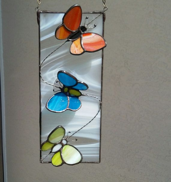 Stained Glass Butterfly SuncatcherGlass by Stainedglasslove