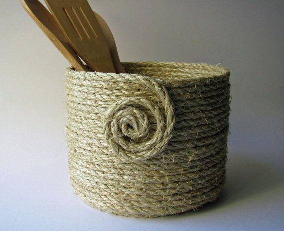Hemp Coiled Rope Basket