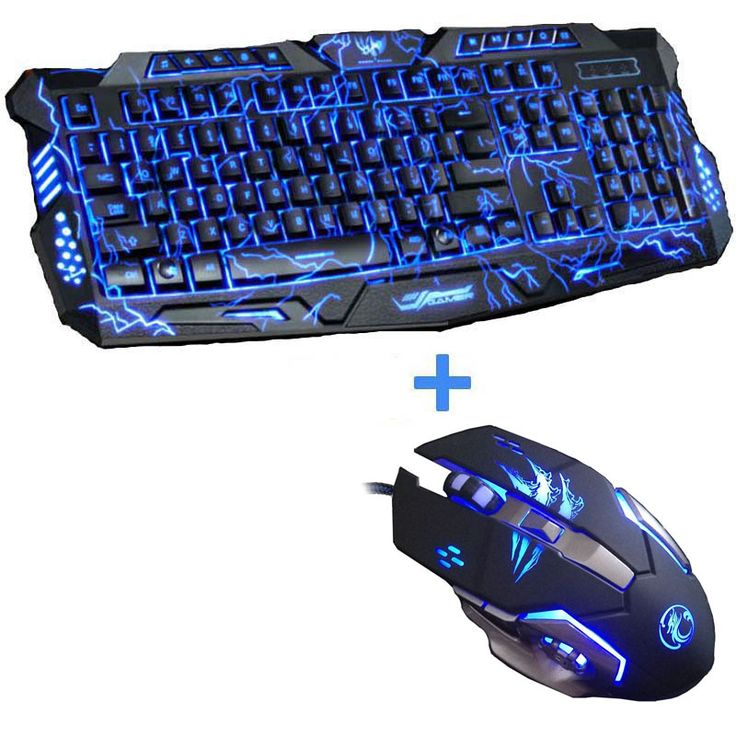 New Advanced Tri-color Backlight Gaming Keyboard Game Keyboard Mouse Combo 6 Buttons 3200 DPI Mechanical Pro Gaming Mouse //Price: $56.00      #sale