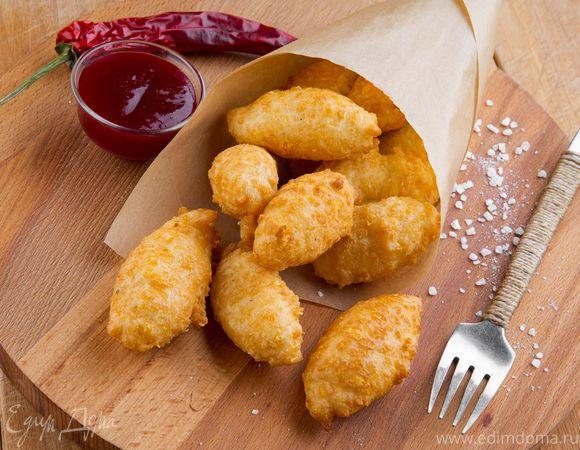 Французская закуска . Ингредиенты: сыр твердый, яичные белки, сухари панировочные | Кулинарный сайт Юлии Высоцкой: рецепты с фото