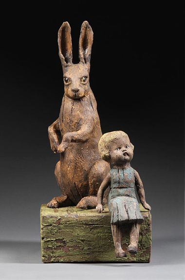 girl with Brown Hare Margaret Keelan