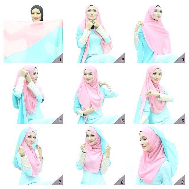 Gorgeous 2 Shades Hijab Tutorial