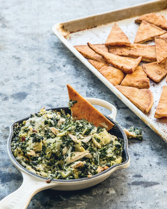 Chrissy Teigen's Artichoke, Spinach & Buffalo Chicken Dip is What Snack Time Dreams are Made of | Rachael Ray Mag